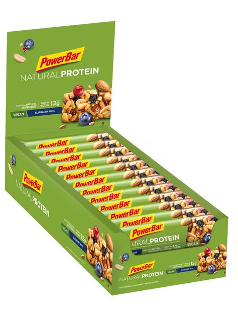 PowerBar Natural Protein - Nutrición deportiva - Blueberry Nuts (Vegan) 24 x 40g